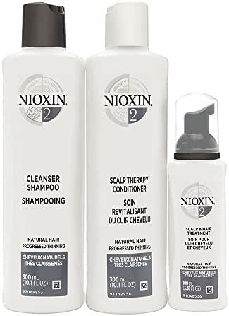 Nioxin Hair Care Kit System 2 for Natural Hair with Progressed Thinning, 3 Count, Full Size
