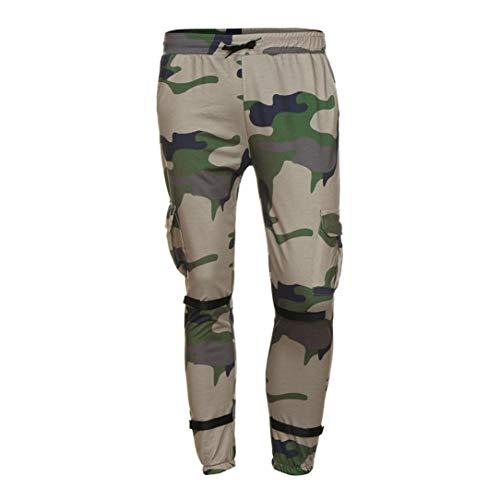Realdo Hot!Clearance Sale Fashion Men Tight Beam Foot Drawstring Sports Slacks Casual Elastic Pockets Trousers(XXX-Large,Army Green) by Realdo (Image #3)