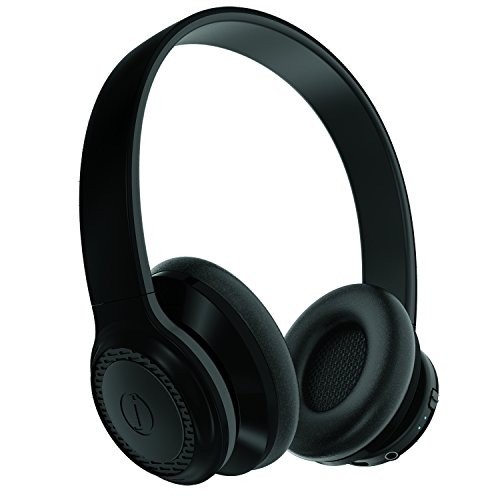 JAM SilentPro Wireless Bluetooth On-Ear Headphones, 15 Hour Playtime, Omni-rotational Ear Cups, Lightweight, Hands-Free Calling, HX-HP425BK Black