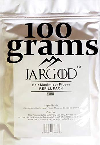 100 Gram Hair Building Fibers - Refill Your Existing Fiber Bottle - Hair Filler Fibers - Hair Loss Concealer For Thinning Hair by JARGOD (Black)