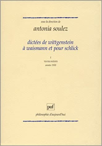"""Résultat de recherche d'images pour """"wittgenstein dictées waismann puf"""""""