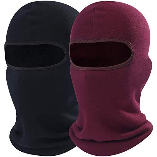 AXBXCX 2 Pack - Neck Warmer Polyester Fleece Thermal Balaclava Face Mask Windproof Protection for Snowboard Ski Cycling Motorcycle Hunting Driving Cold Weather Winter Activities -