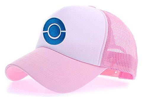myglory77mall Sombrero de Animado para Hombre L.rosa/Blanco T2