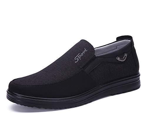 Soft Polyurethane - Men's Loafer Slip On Shoes Work Walking Anti-Skid Suede Polyurethane Soft Bottom Light Breathable Large Size 12.5 Black(12 M US,29 cm Heel to Toe