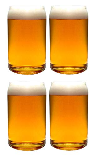Buy beer glasses set of 4 can shaped