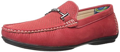 Stacy Adams Mens Pomp Slip-On Loafer Red MbZYF