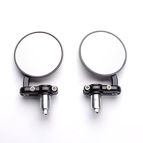 - Aeroway Rear View Side Mirror Round Bar End Convex Hawk-eye Motorcycle Mirror For 7/8