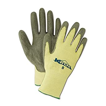 Magid Glove & Safety KEV8627-10 K-ROC KEV8627 Para-Aramid PU Palm Coated Gloves, Cut Level 4, Size 10, Gray (Pack of 12)