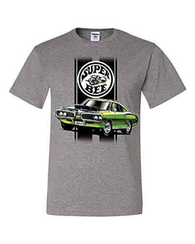 - Tee Hunt Dodge Green Super Bee T-Shirt American Classic Muscle Car Gray 4XL