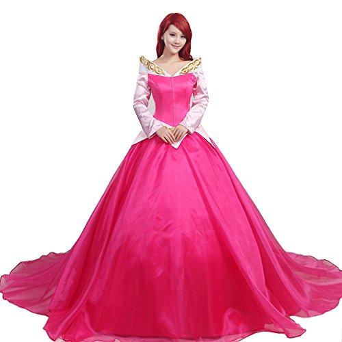 Gothic Sleeping Beauty Costume (Halloween Costume Women's Sleeping Princess Cosplay Dress Ball Gown Uniform (M))