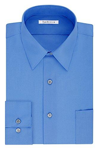 Van Heusen Men's FIT Dress Shirt Poplin Solid (Big and Tall), Pacifico, 20