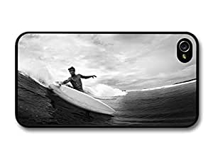 Surfer in Cool New Black and White Photography Style carcasa de iPhone 4 4S