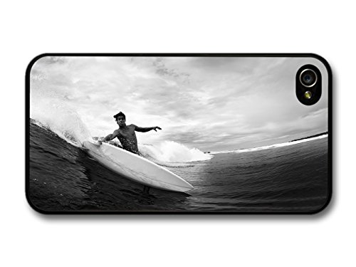 Surfer in Cool New Black and White Photography Style coque pour iPhone 4 4S