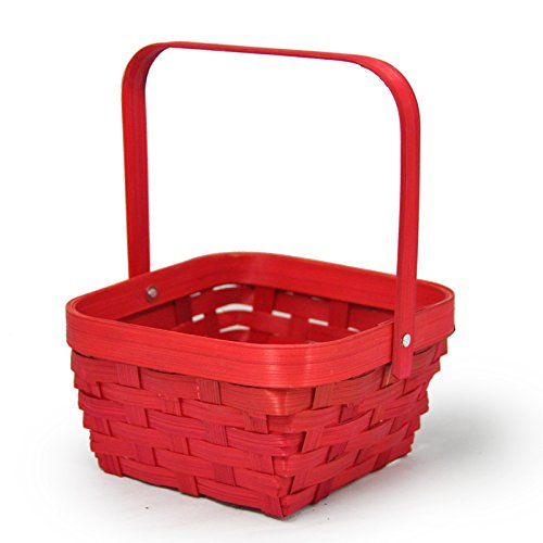 Red Swing Square Handle Basket - Small