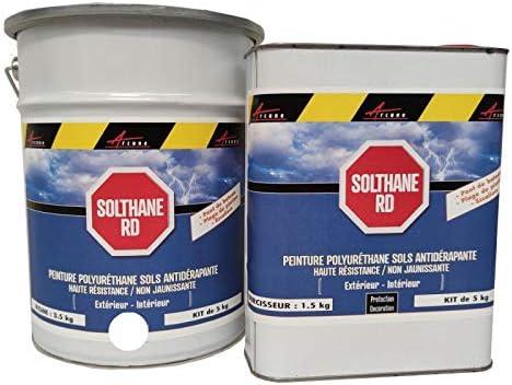 Arcane Industries - Pintura antideslizante para suelo exterior, escalera, barco, baldosas, hormigón, madera metálica, color blanco: Amazon.es: Bricolaje y herramientas