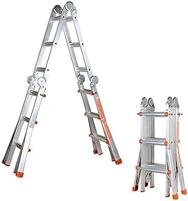 AJS Escalera Exterior De Aluminio Para Interiores | Escalera Telescópica Plegable Escalera De Ingeniería Inicio Escalera Móvil Portátil Escalera Multifunción De Barra De Ingeniería De 5 M / 7 M: Amazon.es: Hogar