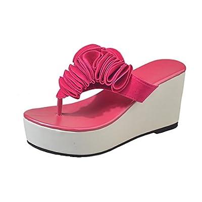 Hot Sale Women Shoes Missyy Thick-Bottom Sloped Slippers Flip Flops High-Heeled Wedges Platform Shoes New