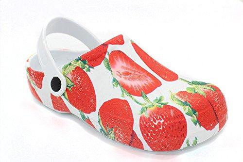 de Zuecos Erdbeer mujer buyAzzo para Caucho 5OaaAR