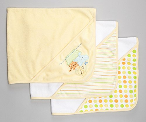 Spasilk Soft Terry Hooded Towel Set, Yellow Ark, 26