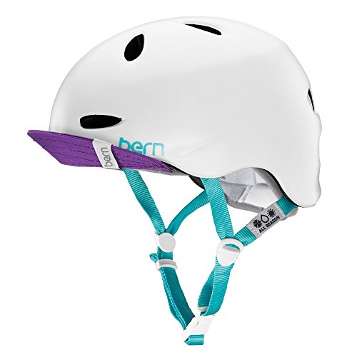 Bern Unlimited Berkeley Summer Multi Helmet with Visor, Satin White, Medium/Large ()