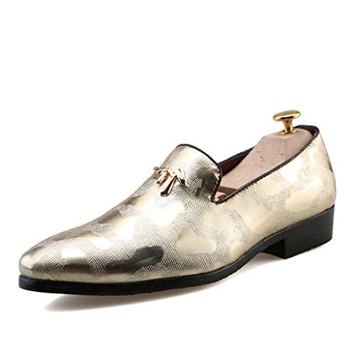 ZXCV Zapatos al aire libre Zapatos de los hombres al aire libre zapatos perezosos un pedal set pies zapatos Oro