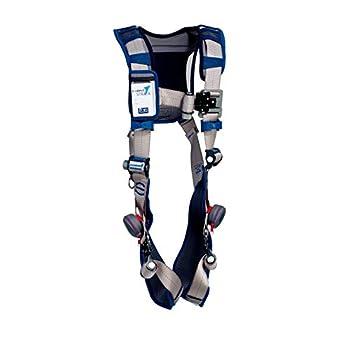 Image of 3M DBI-SALA ExoFit STRATA Vest-Style Harness 1112478, Grey, Blue, X-Large, 1 EA Harnesses