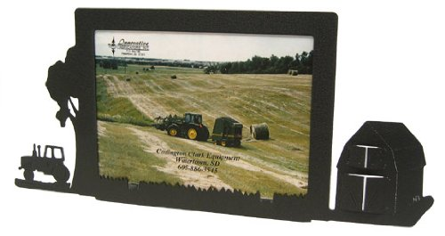 Large Frame Tractor - Farm Site Tractor & Barn 5X7 Horizontal Picture Frame