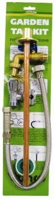 Outdoor Garden Tap Kit Complete DIY Set Copper Pipe /& Brass Fittings
