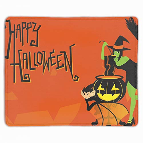 (Cute Halloween Witch Non-Slip Rubber Mousepad Gaming Mouse Pad)