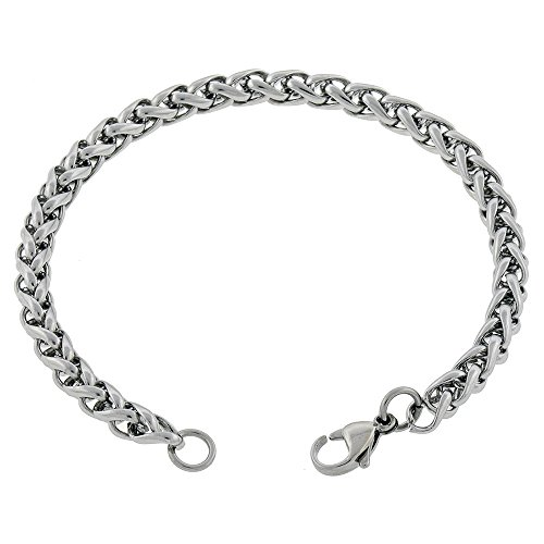 Womens Stainless Steel Silver Anklet