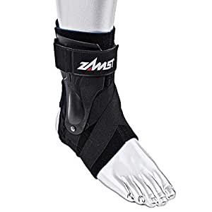 Zamst Ankle Brace Support Stabilizer: A2-DX Mens & Womens Sports Brace for Basketball, Soccer, Volleyball, Football & Baseball,Black,Left,Small