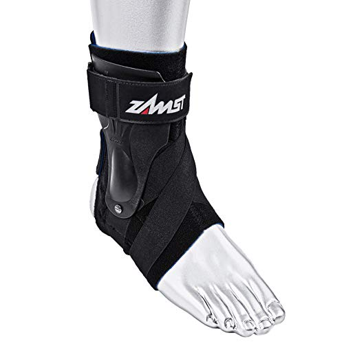 (Zamst Ankle Brace Support Stabilizer: A2-DX Mens & Womens Sports Brace for Basketball, Soccer, Volleyball, Football & Baseball ,Black,Left,Medium)