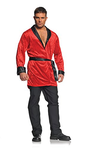 Underwraps Men's Smoking Jacket, Red/Black, One Size -