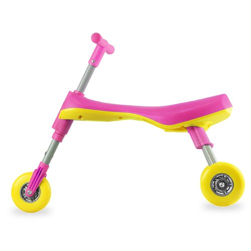 Fly Bike® Foldable Indoor/Outdoor Toddlers Glide Tricycle - No Assembly Required - Pink