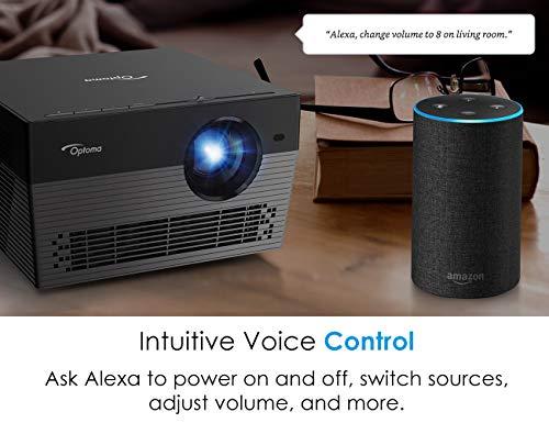 Optoma UHL55 Portable LED 4K UHD Smart Projector Works with Amazon Alexa amp Google Assistant