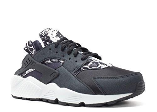Nike Damen Wmns Air Huarache Run Print Turnschuhe black, pure platinum