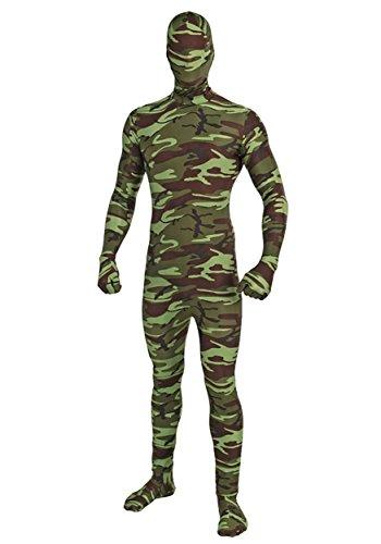 All Green Costume (Forum Novelties I'm Invisible Costume Stretch Body Suit, Camo, Child Medium)