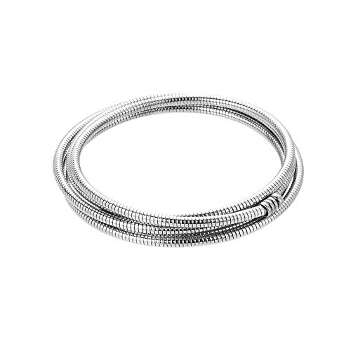 (ZOBDX Stainless Steel Multi Layer Snake Chain wrap Cuff Bangle Bracelet Jewelry for Women,Girl Gift (Silver))