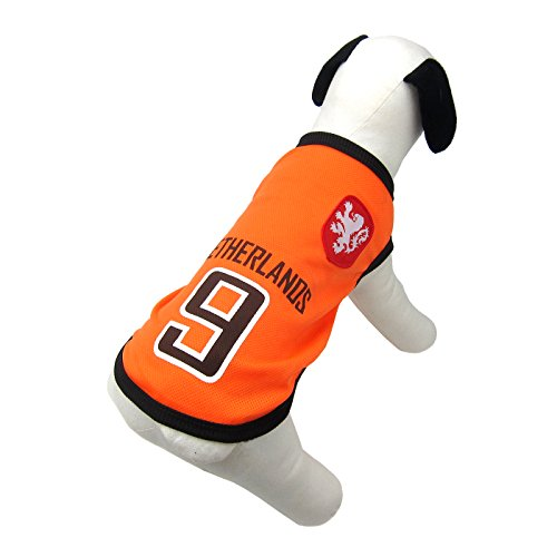 Alfie Pet by Petoga Couture - Ezra Soccer Jersey - Color Netherlands, Size: Small