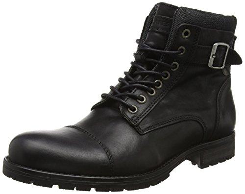 JACK & JONES Herren Jfwalbany Leather Combat Boots, Schwarz (Black), 44 EU