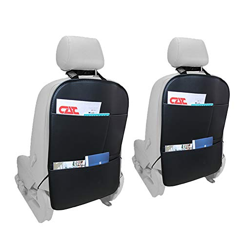 BlingBelle Auto Seat Back Protectors 2 Pack Waterproof Leather Seat Cover for The Back of Your Seat, Car Back Seat Protectors, Backseat Child Kick Guard Seat Saver