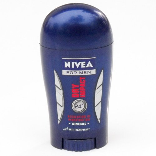 New Nivea for Men Dry Impact Solid Stick Deodorant 40ml