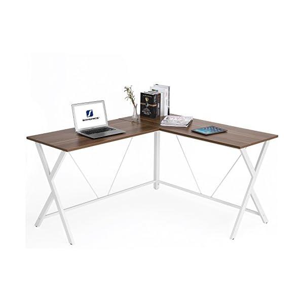 SS600   SONGMICS L Shaped Computer Desk Corner Office Desk Gaming  Workstation,