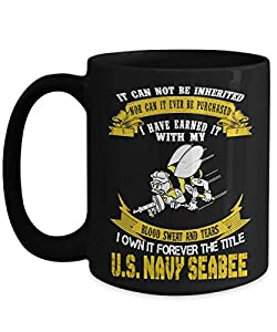Navy Seabee Coffee Mug/United States Navy Coffee Mug 11oz -15 oz by Gearbubble