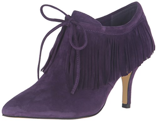 Bella Vita Women's Diem Dress Pump, Eggplant Kid Suede, 8.5 2W (Purple Suede Booties)