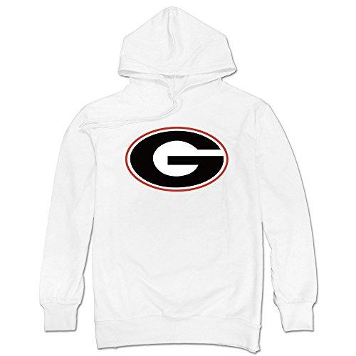 YAK Men's SEC Georgia Bulldogs Sweatshirts White L