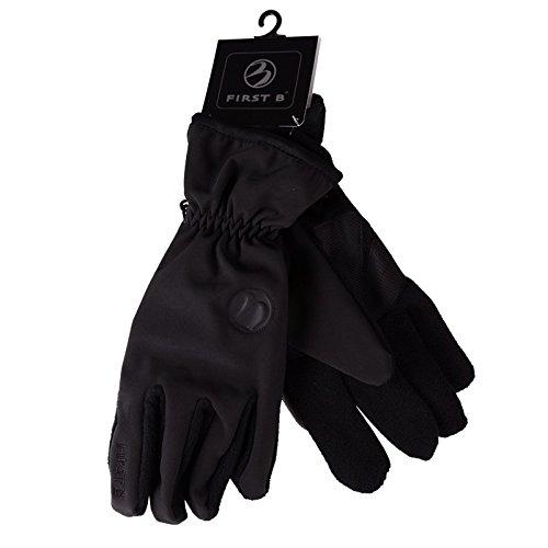 Schwarze Softshell-Handschuhe von First B bis Größe 12, Größe:11