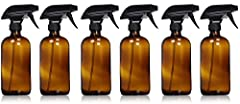 REFILLABLE AMBER GLASS SPRAY BOTTLE - LEAD FREE - BPA FREE - PHENOLIC CAP to store without the spray nozzle - BOTTLE LABELS to identify the contents of the bottle - DISHWASHER SAFE glass - MIST, STREAM, OFF spray nozzle settings HELP YOUR HEA...