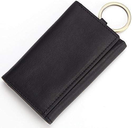 車のキーケース、男性と女性のための適切なフック付きレザーキーケース多機能財布レザーキーバッグジッパーケース