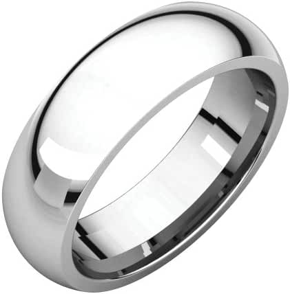 Platinum 6mm Comfort Fit Band, Ring Size 8.5